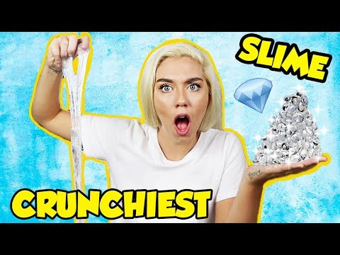THE CRUNCHIEST DIAMOND SLIME IN THE WORLD! LEARN HOW TO MAKE THE BEST CRUNCHY SLIME! MOST SATISFYING