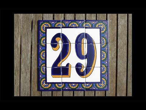 Glazing Spanish Tile Mural House Number 29 - Time Lapse