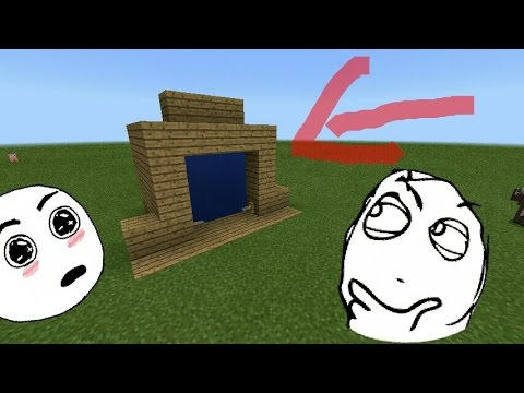 How to make a teleport portal in(MINECRAFT PE)