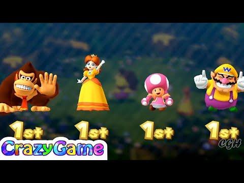 Mario Party 10 Coin Challenge - Donkey Kong vs Daisy vs Wario vs Toadette Gameplay | CRAZYGAMINGHUB