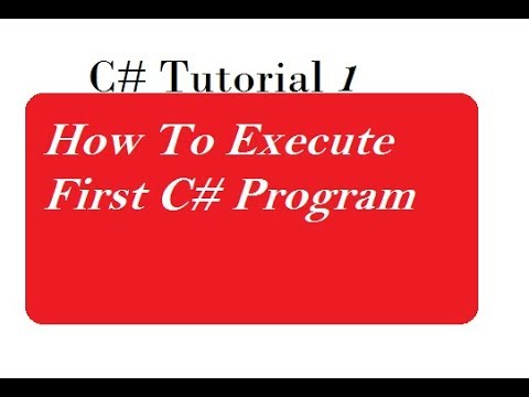 How To Execute First C# Program