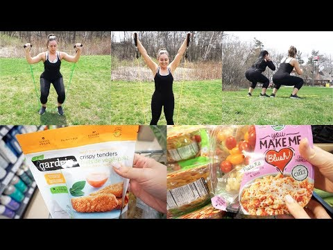 VLOG - Outdoor Resistance Bands Workout & Grocery Shopping!
