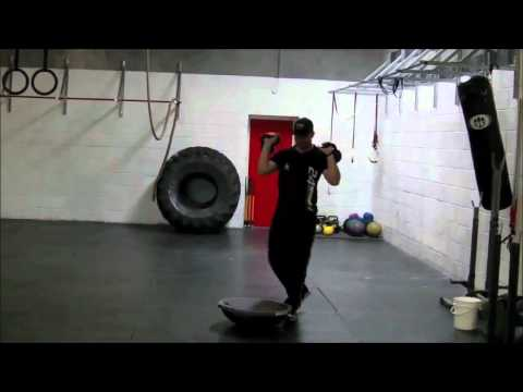 Off Ice Hockey Workout Exercise Bosu Squat Build Balance, leg and core muscles