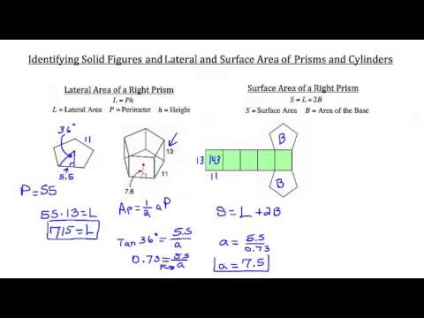 Solid Figures, Lateral and Surface Area of Prisms and Cylinders  2