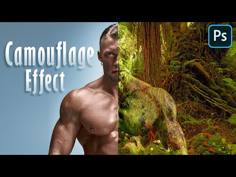 Photoshop Tutorial: How to Create an Invisible, Camouflage Effect!