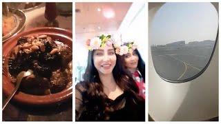 #x202b;لجين عمران مع والدتها في عشاء مغربي وسفر الى مراكش#x202c;lrm;