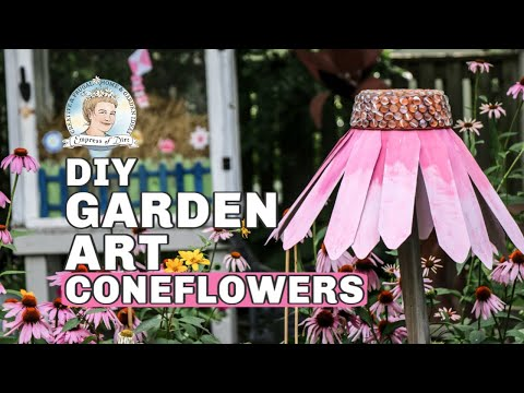DIY Giant Garden Art Coneflowers YT