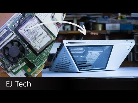 DIY Custom Case for Scrap Laptop Computer - Frankenstein PC Ep. 4