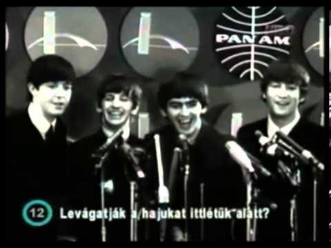 The Beatles - Press Conference at JFK Airport (1964)