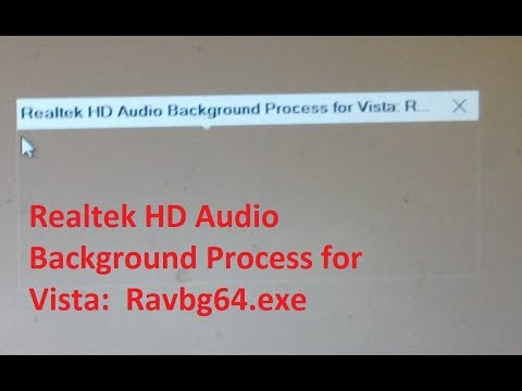 Realtek HD Audio Background Process for Vista: Ravbg64.exe
