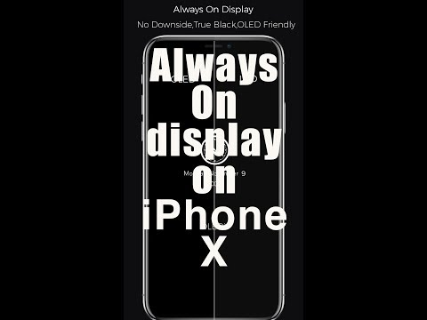 Always on display LockScreen on any iPhone/iPhone X NO Jailbreak