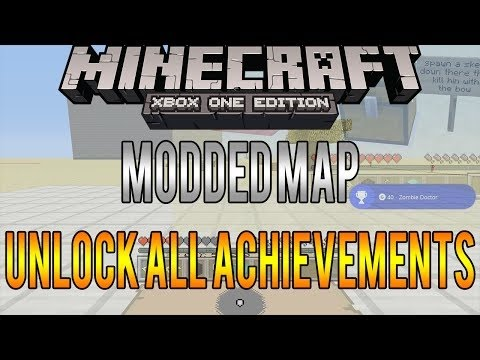 Minecraft Xbox One - All Achievements Easy Guide - Modded Map Review