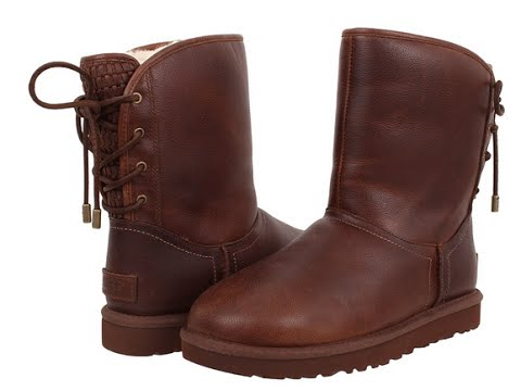 Ugg Australia-  Mariana Leather Boots in Chestnut