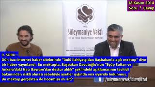 2014.11.18_s9-başbakanın (hacı Bayram Ve Eyup Sultandan Destur Aldık) Sözlerini Eleştiren?-720p
