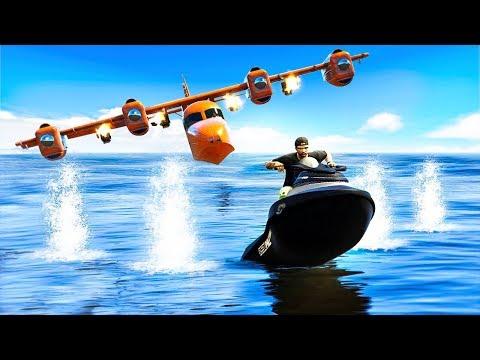 WATER PLANES vs. JET SKIES! (GTA 5 Minigames)