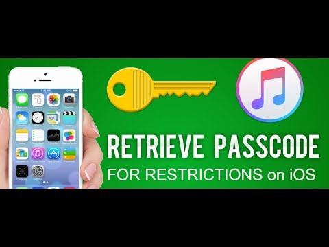 How To Recovery Restriction Passcode in ios device without any restore or deleting files