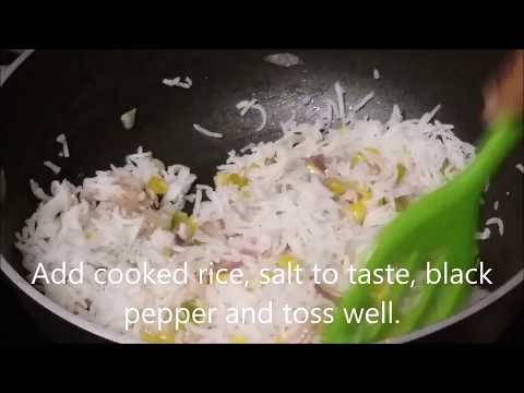 Sweet Corn Fried Rice/How to make easy fried rice within 15 minutes?