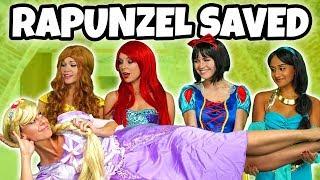 DISNEY PRINCESSES SAVE RAPUNZEL FROM MOTHER GOTHEL (Rapunzel's Story Does Mother Know Best?)