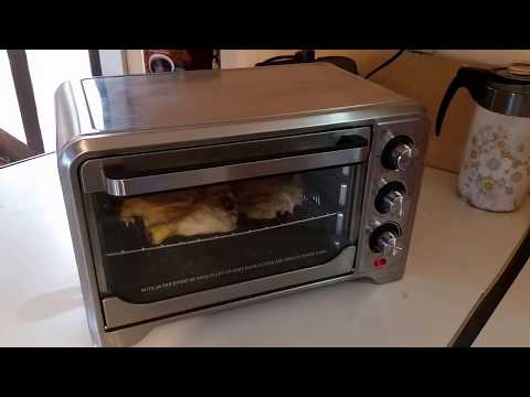 Baking chicken in my toaster oven off grid powered