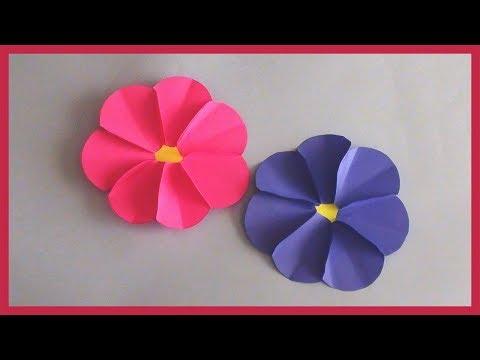 DIY Very Easy and Simple Paper Flowers