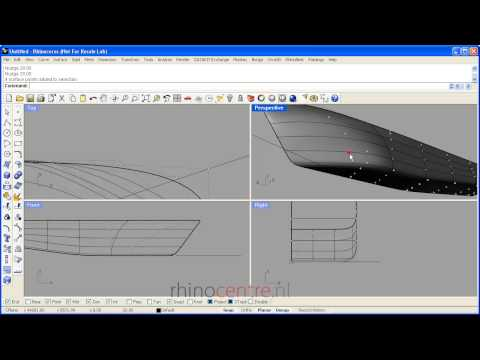 Rhino3d Demo Ship Hull Surface Control Point Modeling