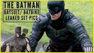 The Batman- Leaked Set Pics of Pattinson Batsuit & Batbike