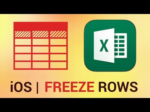 How to Freeze and Unfreeze Rows and Columns in Excel for iPad