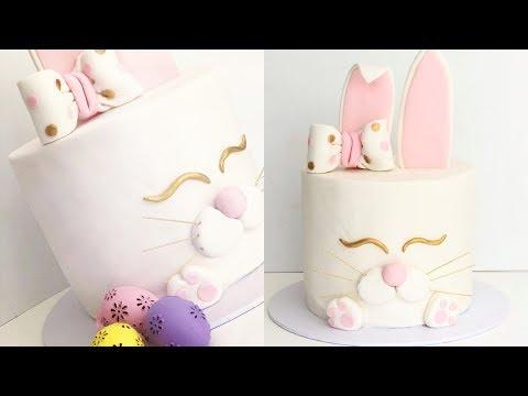 Elegant EASTER BUNNY cake!