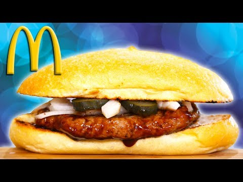 McDonalds McRib BBQ Rib Sandwich | Homemade Hack