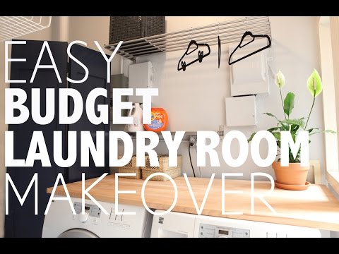 Easy Budget Laundry Room Makover