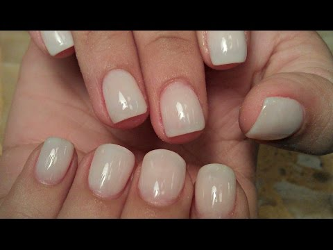 HOW TO SOFT WHITE NATURAL NUDE ACRYLIC NAILS TUTORIALS