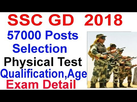 SSC GD 2018 Vacancy 57000 Posts , SSC Constable GD Physical,Salary,Age,Selection