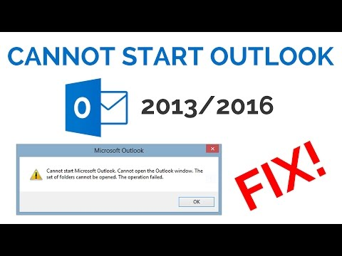 How to Fix Outlook 2016 Error Cannot Start Microsoft Outlook Cannot Open The Outlook Window