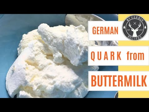 How to make Quark from buttermilk ✪ easy & quick DIY