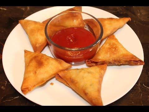 Chicken Samosa Recipe With Homemade Sheets- Ramadan Special-Easy Chicken Samosa