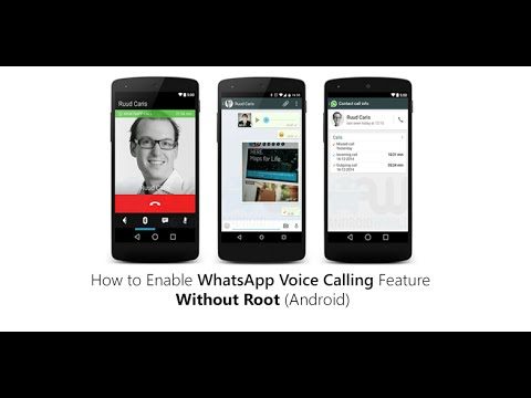 How to Modify the Whatsapp APK to enable Voice calling[NEW][No Root]