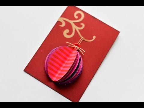 How to Make - Christmas Card Bauble - Step by Step DIY | Kartka Świąteczna Bombka