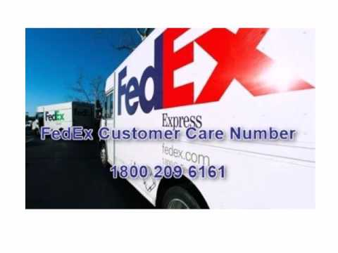 Fedex contact number and toll free number