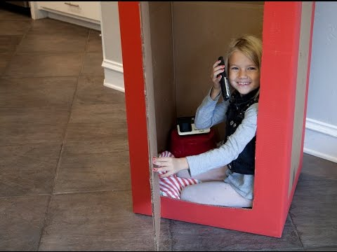How to Make a British Phone Booth from a Cardboard Box