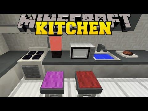 Minecraft: KITCHEN MOD (MICROWAVE, TOASTER, BLENDER, DISH WASHER, & MORE!) Mod Showcase