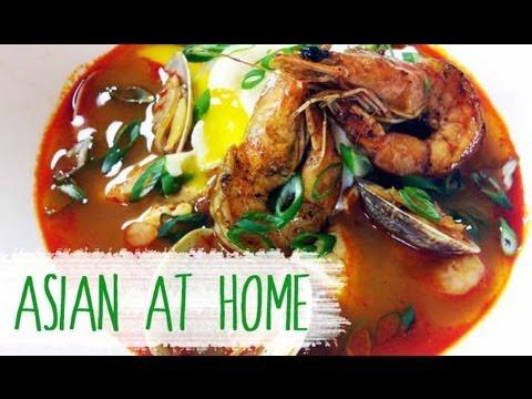 Silken Tofu Soup with Seafood Recipe