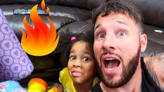 FLOOR IS LAVA CHALLENGE IN OUR NEW FORT! FamousTubeKIDS