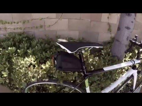 Damage after bike crash.