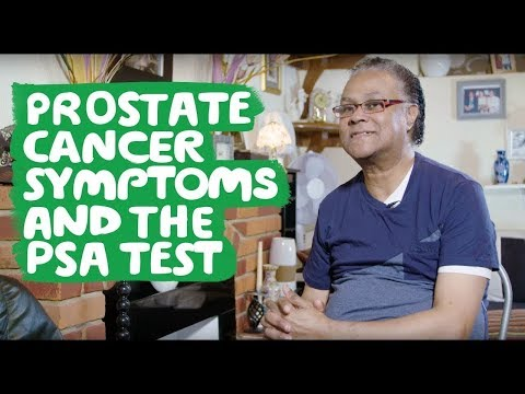 Prostate cancer symptoms and the PSA test