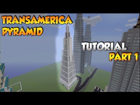 Minecraft Transamerica Pyramid Tutorial Part 1- XBOX/PS3/PC
