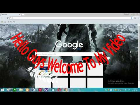 How To Change Google Chrome Background 2017