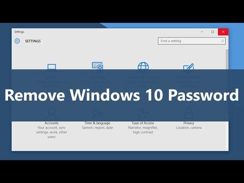 How to Remove Windows 10 Password