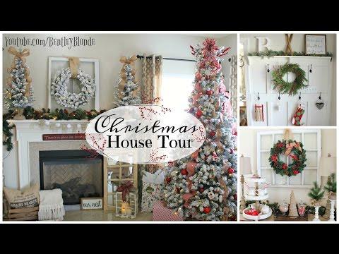 HOUSE TOUR 2016 | Christmas Farmhouse Decor on a Budget!