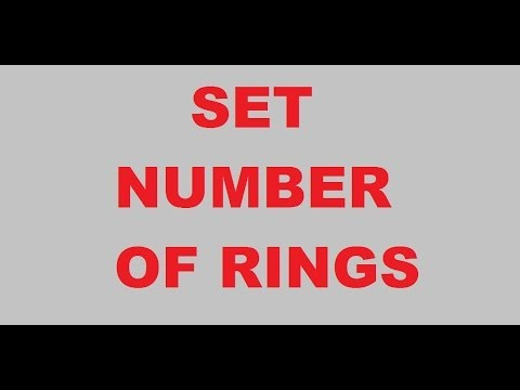 number of rings for iphone