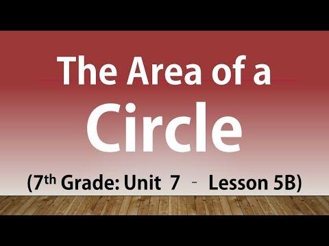 The Area of a Circle: 7th Grade Unit 7 Lesson 5B